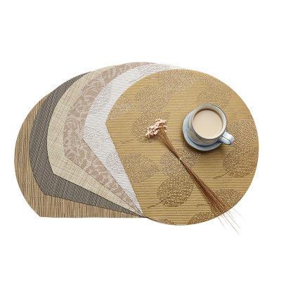 Oro manteles individuales de la casa decoración mantel de mesa de cocina de medio círculo semicírculo alfombras