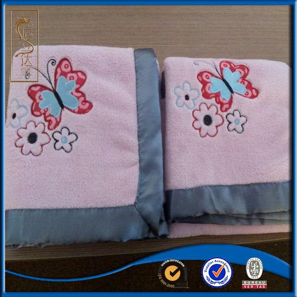 Высокое качество Толстые анти-пиллинг двойной слой ручная вышивка бабочка одеяло с вышивкой
