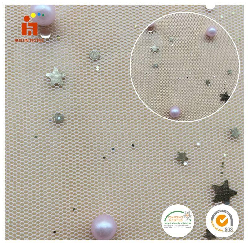 <span class=keywords><strong>Festival</strong></span> neueste modische sterne pailletten perlen stickerei tüll stoff für kleidung