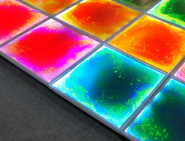 새로운 디자인 인테리어 장식 무대 바닥, 액체 타일, 팬톤 컬러 주도 액체 층