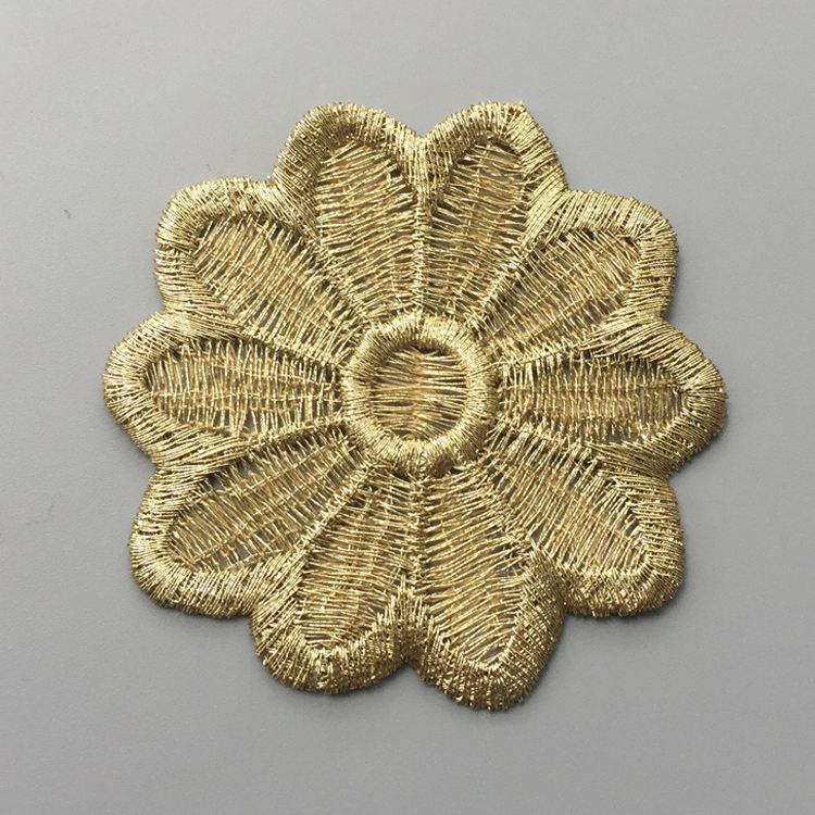 Высокое качество индийской одежды украшение металлической проволоки золотые кружева аппликация <span class=keywords><strong>патчи</strong></span>