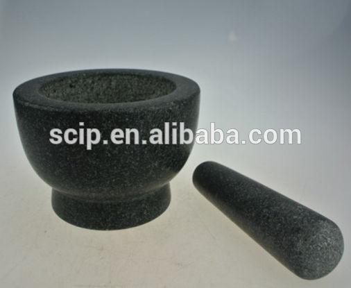 ronda de piedra de mortero y maja