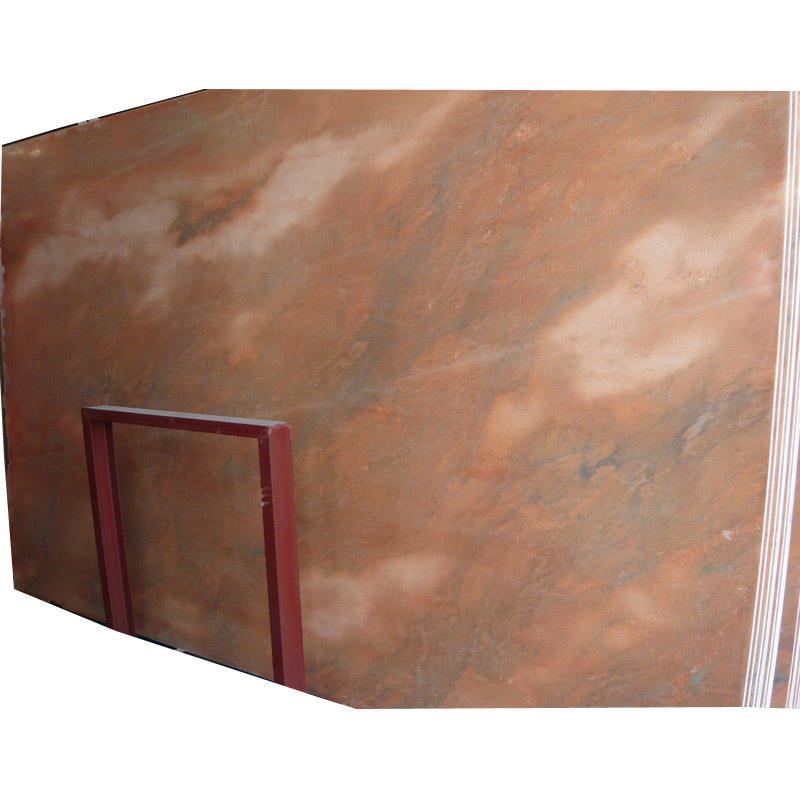 Fabricación de azulejos piso corte de mesa rojo atardecer resplandor mármoles