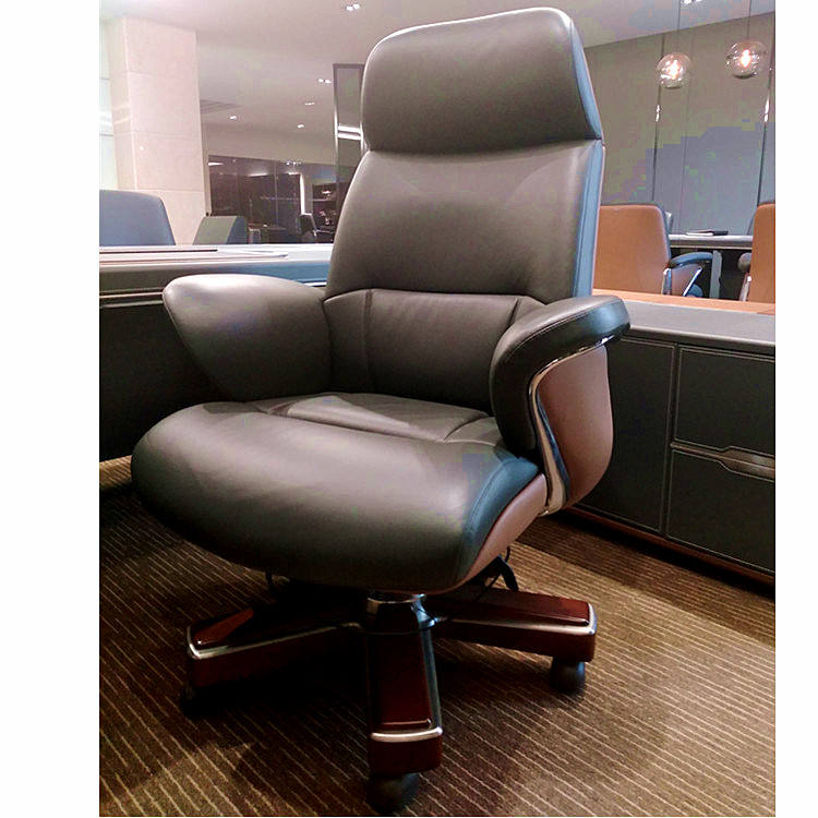 Genuine Leather director chair CEO office chair revolving YS1605A Luxury big boss executive office chair furniture Foshan