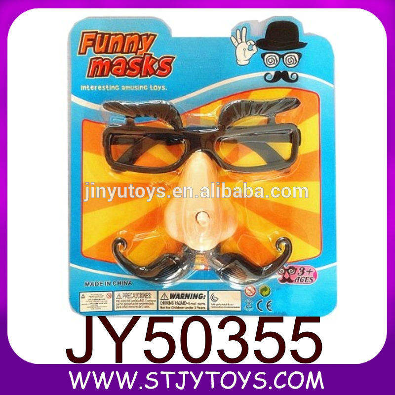 festa brinquedos acabam vidros engraçados com o movimento de bigode