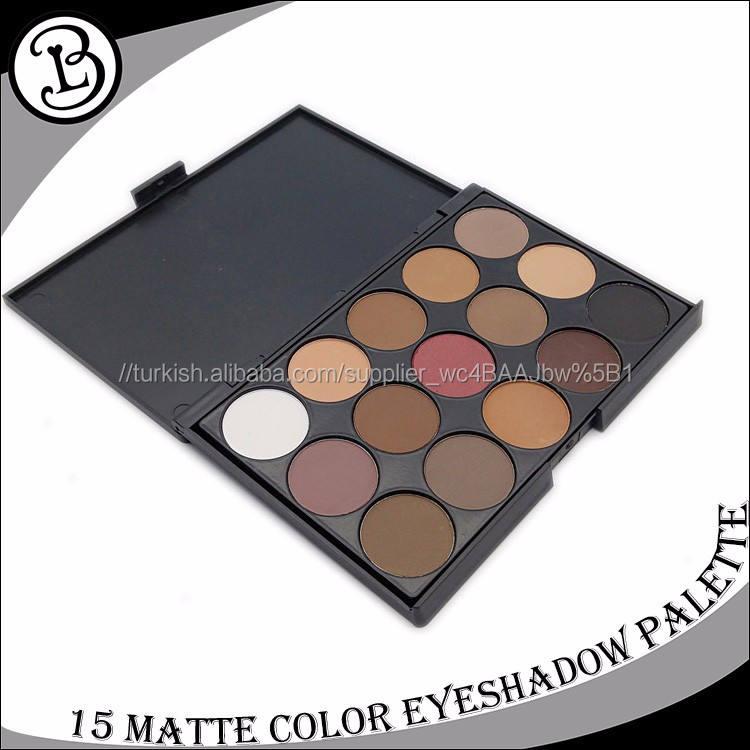 Pigmentli göz farı 15 renkler göz farı ekran göz farı ambalaj
