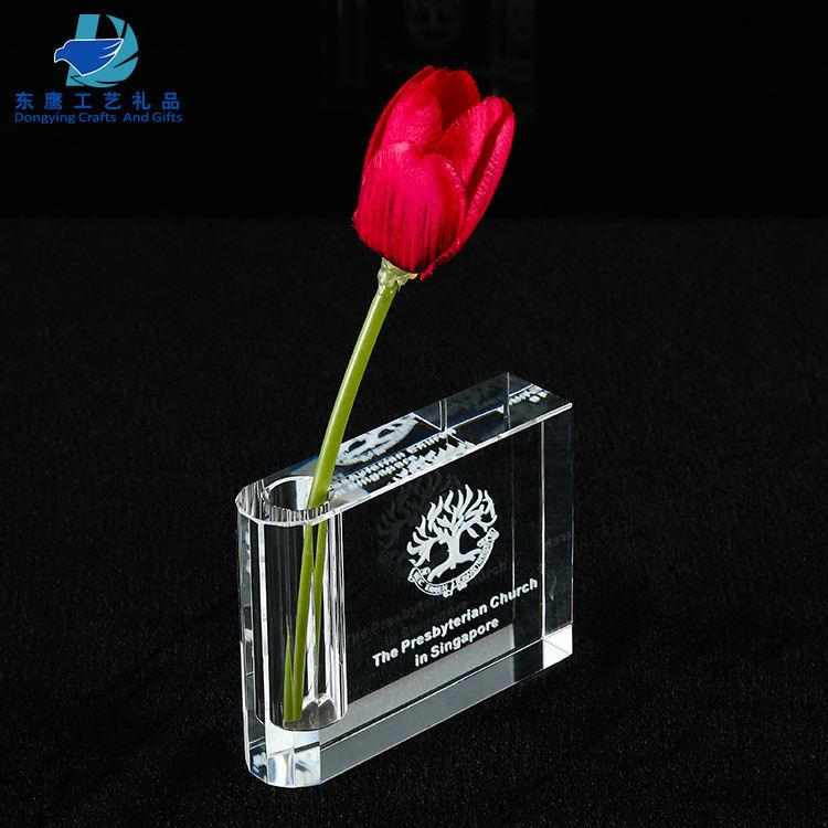 Индивидуальные Картину Лазерная Гравировка Хрустальная ваза для офиса и домашнего декора