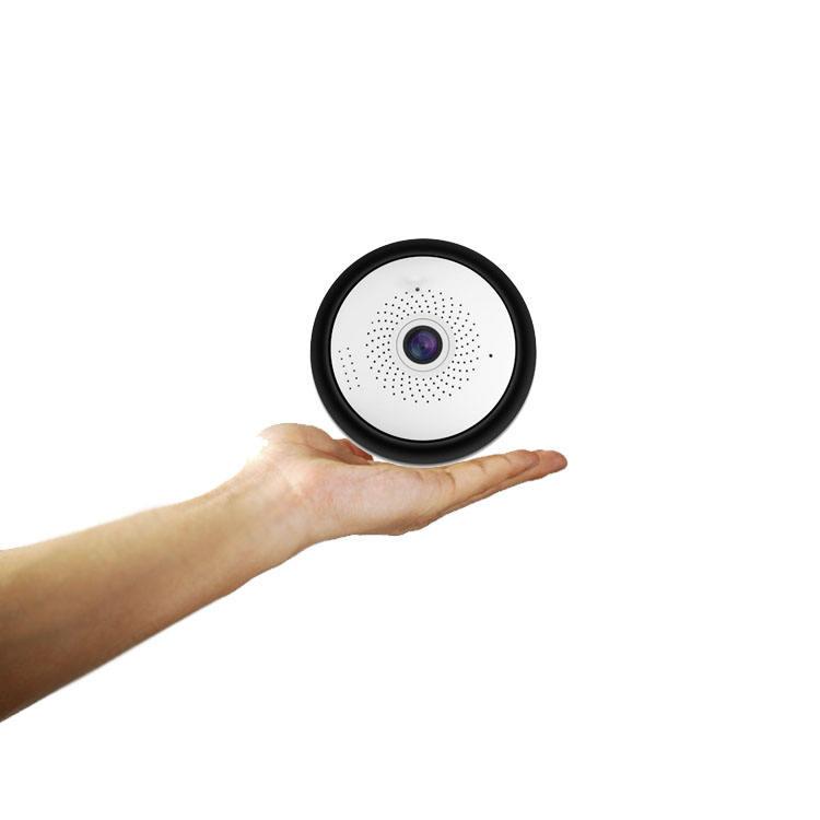 1080 P 3MP 360 Degrés Mini CCTV Espion WIFI IP VR <span class=keywords><strong>Caméra</strong></span> Cachée Avec Audio bidirectionnel Et Max 128 GB TF Carte