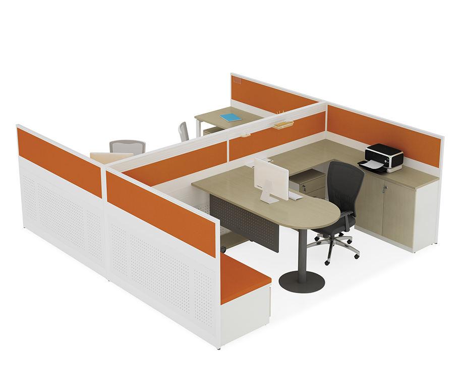 Moderner Mitarbeiter- und Managerarbeitsbereich Einfache multifunktionale Büromöbelarbeitsplatz-Tischdesign