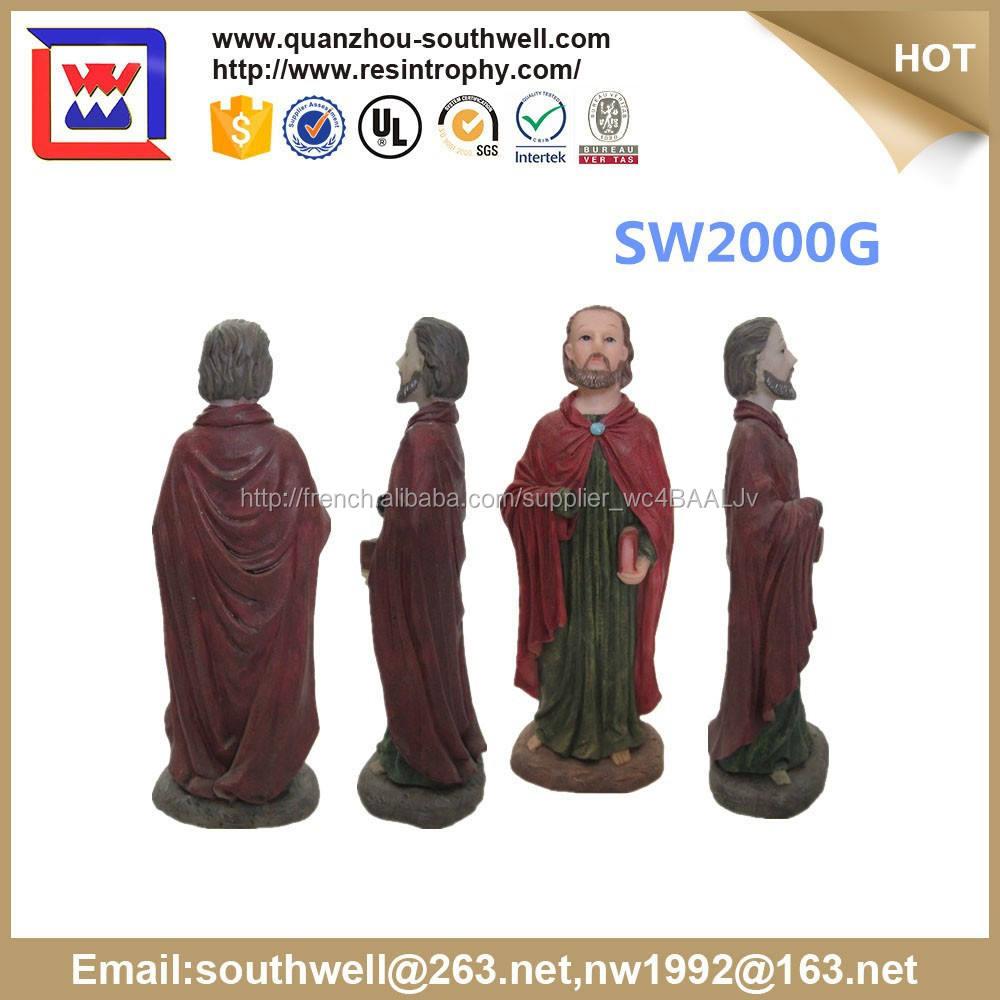 Statues religieuses religieuses gros souvenirs figurines résine religieux chrétien jouets
