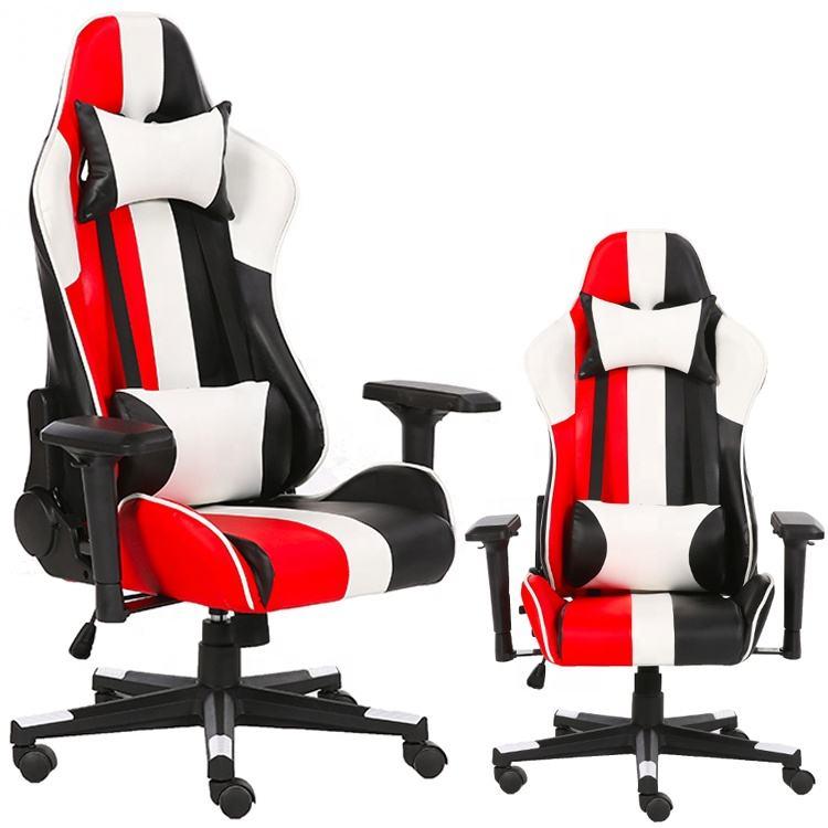 Ergonómico rojo de alta de nuevo silla de asiento de carreras con ruedas de Nylon