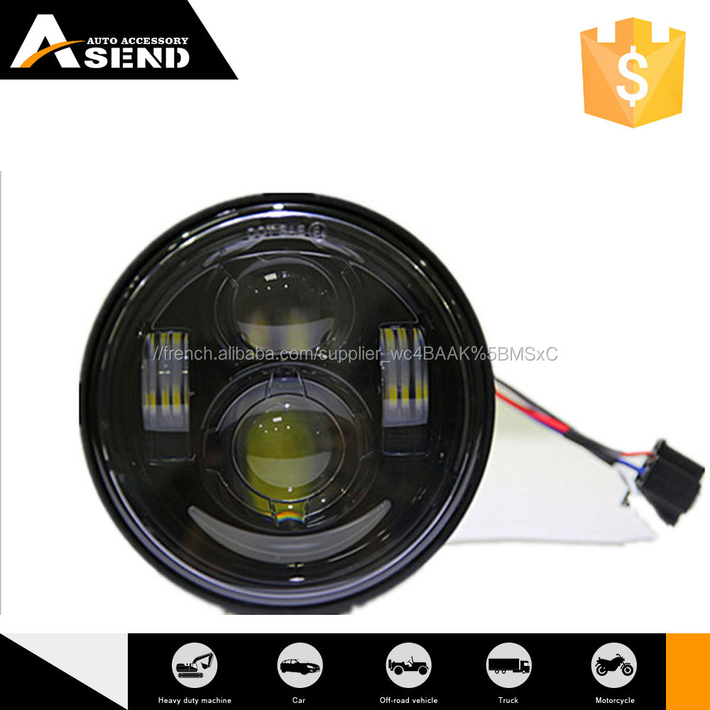 5 ''h4 phare LED 45 W <span class=keywords><strong>projecteur</strong></span> avec DRL ronde moto phare avec usine prix de Chine <span class=keywords><strong>fournisseur</strong></span>