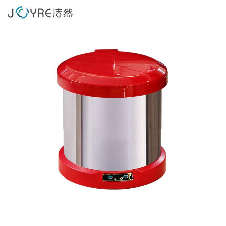 6L tamanho pequeno vermelho rodada pés indução lixo wc elétrico do agregado familiar