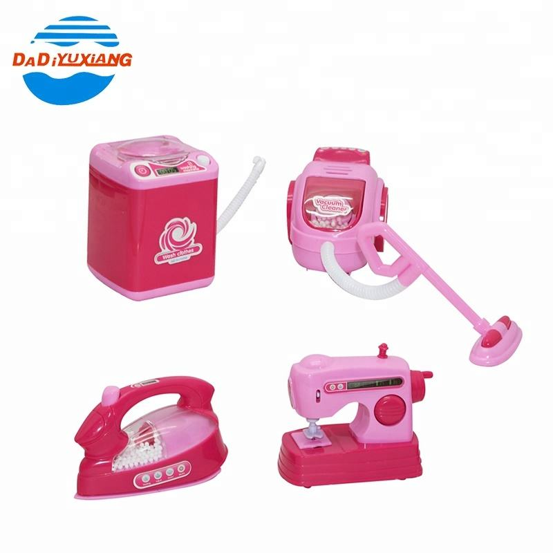 4 pcs simulation washing sewing machine home appliances toy for kids