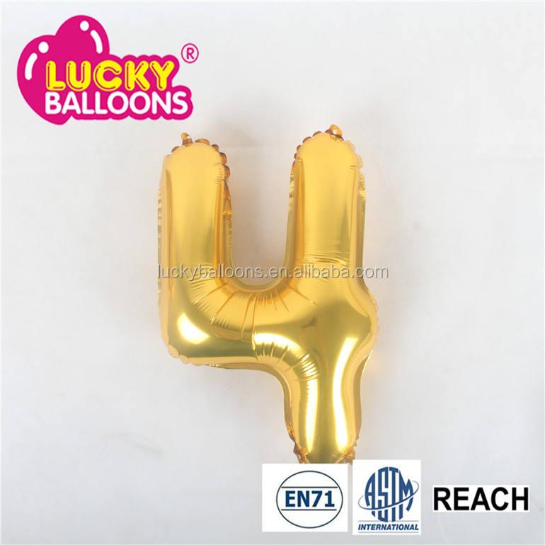 mini número de oro globos de impresión de tinta diferentes globos en forma de recargable tanques de helio globos