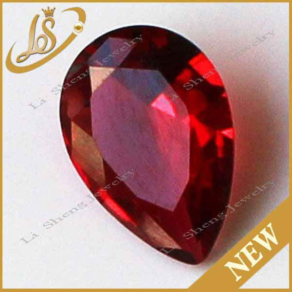preço de fábrica loose gemas wuzhou aaa qualidade ps red pedra de vidro