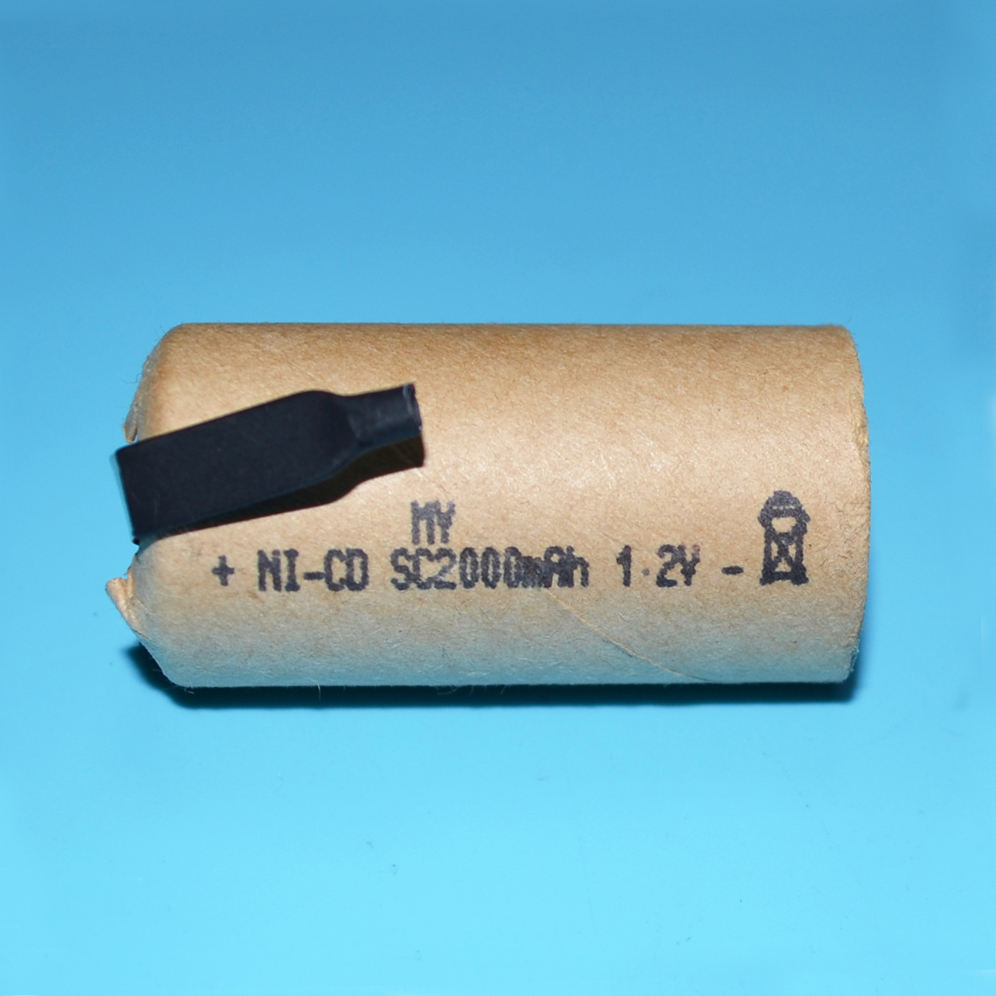 Nickel-cadmium rechargeable sc 1.2v nicd 2000mah battery cell