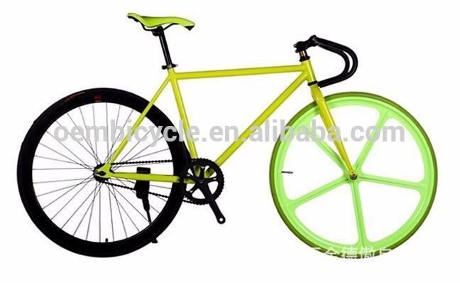 الجبهة الملونة 700*23c fixied والعتاد دراجة تكلم الخمس