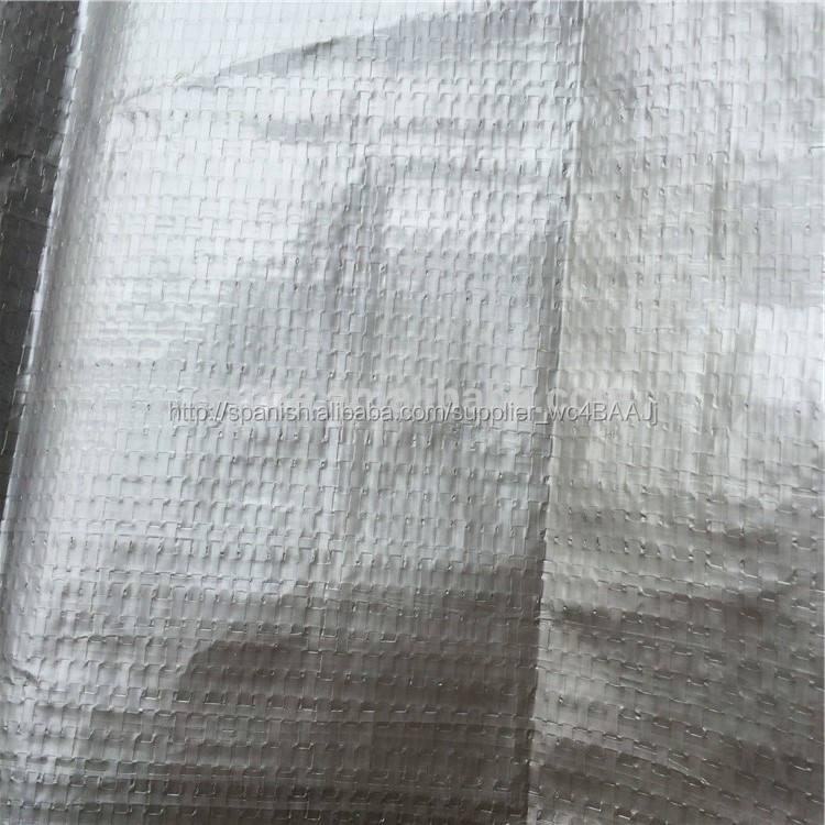 China de fábrica resistente al agua de plata laminado poli 12 * <span class=keywords><strong>20</strong></span> lona hoja