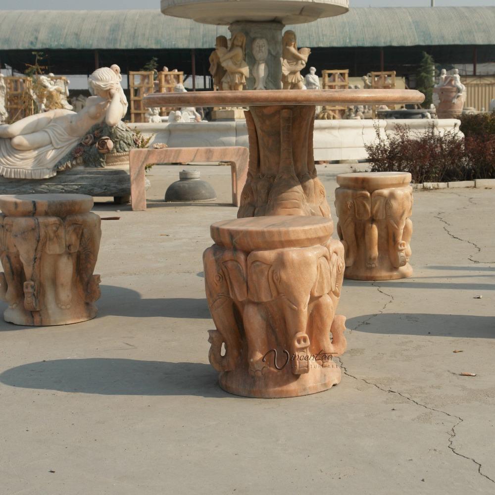 Decoração do jardim escultura em pedra de <span class=keywords><strong>mármore</strong></span> mesa de <span class=keywords><strong>mármore</strong></span> ao ar livre