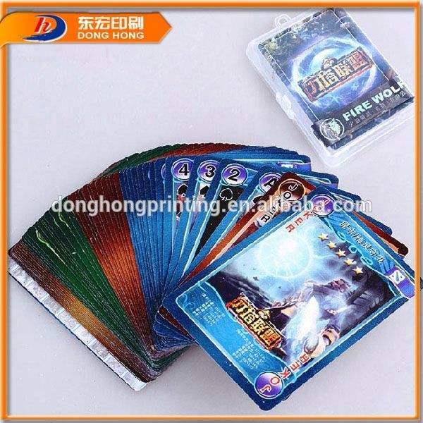 folha do pvc para a promoção da royal plástico jogando cartas