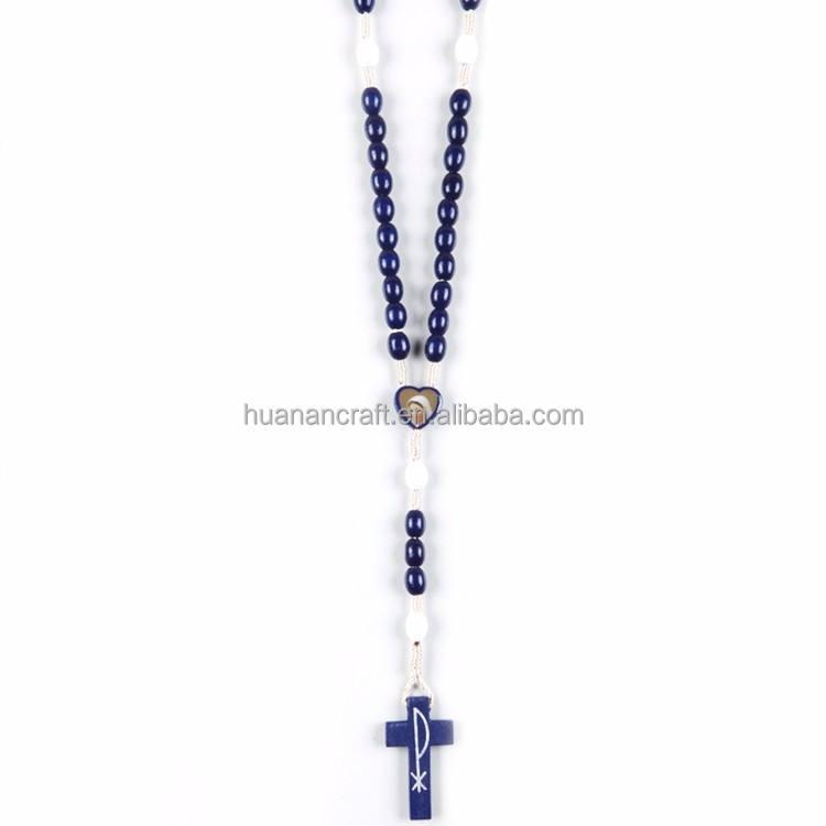 Noble stile Europeo regolabile christian legno croce religiosi rosari