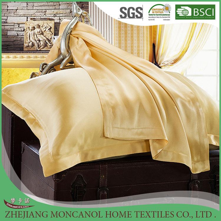 Золотой цвет наволочки шелковые наволочки 100% чистый