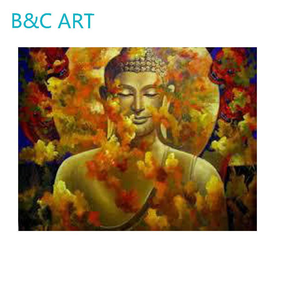 Pared al por mayor tela indio decorativo pared pintura Buda