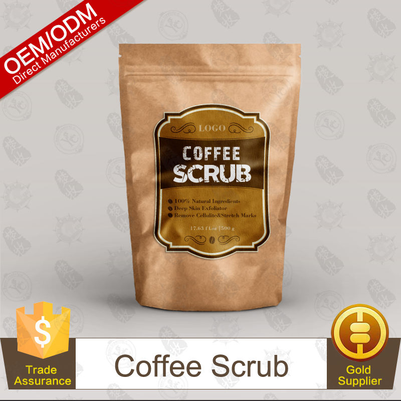 Оптовая крафт-бумаги private label кофе скраб для взрослых