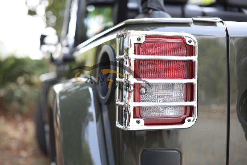 Tail Chrome Rear Light Cubierta para 2007-2017 Jeep Wrangler JK Sahara Rubicon Guardias Cubiertas Lámpara De Cola