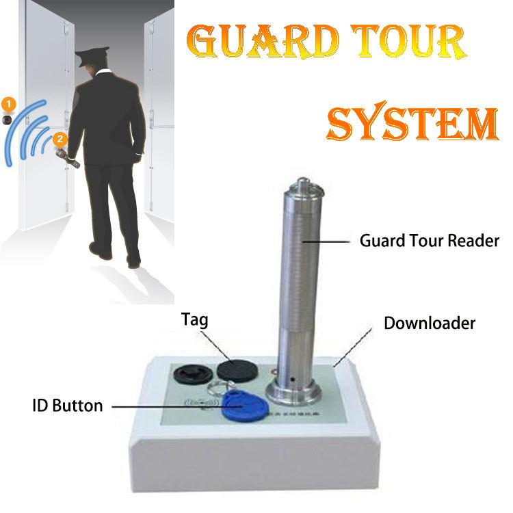 2000 записи RFID Guard Tour System Solution, составляющие Патрулирования Читатель и Загрузчик и Тег & ID кнопку