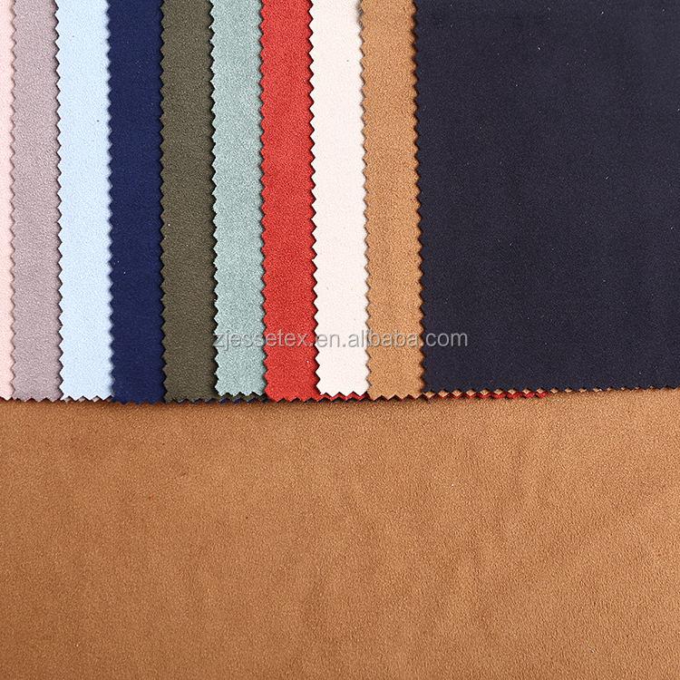 Nuovo prodotto pianura tinta vestito lavorato a maglia <span class=keywords><strong>forte</strong></span> stretch faux suede tessuto poliestere