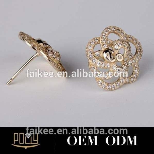 Jóias criativa anel de prata de lady flor pistilo projeto atacado terracota brinco jhumkas