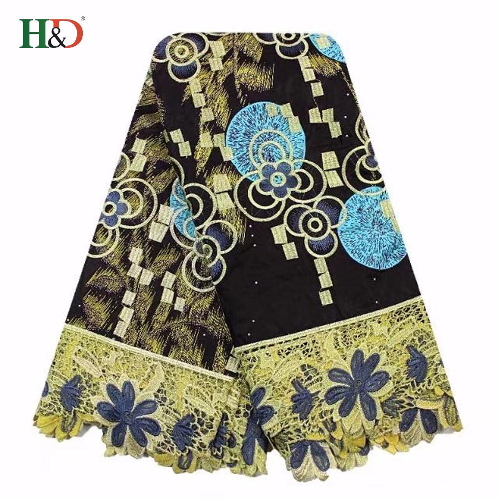 H & dアフリカチュールレース刺繍生地正真正銘のスーパーワックスhollandais 100%で良い価格