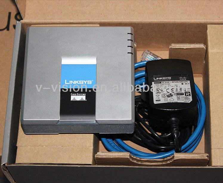 ホットアナログ電話機またはファックス機用のLinksys SPA3102 VoIPゲートウェイルータ,二つのFXO音声ポート(RJ-11)を販売