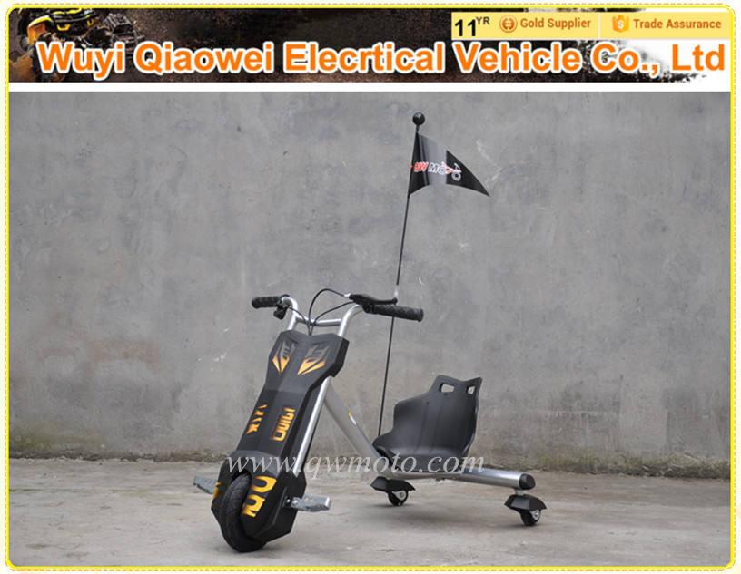 2015 populares <span class=keywords><strong>QWMOTO</strong></span> certificación CE de plata 3 ruedas 100 W a la deriva Scooter elegante Scooter eléctrico