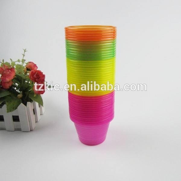Plástico del partido bombardero tazas tiro de color neón