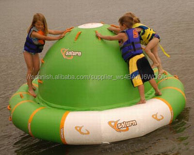 Durable 0.9mm PVC inflable juegos de agua, inflable flotante spinner
