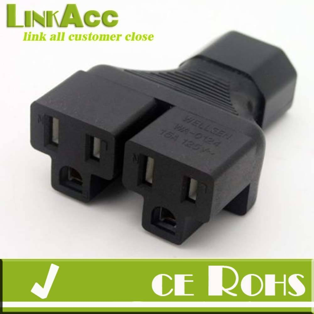 Linkacc10ie iec 320 c14 tot 2 x <span class=keywords><strong>nema</strong></span> 5-15r adapter