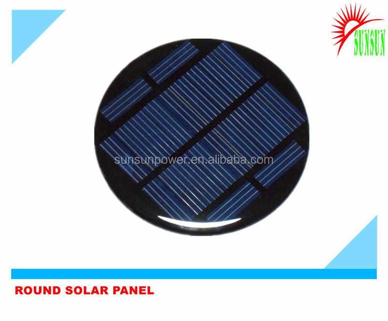 9v yuvarlak mini güneş paneli