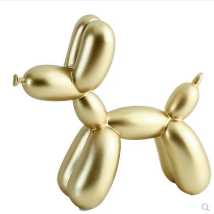 Estatueta de resina Decoração de Casa Moderna Sala de Fazenda Ornamento Cão Escultura de Balão