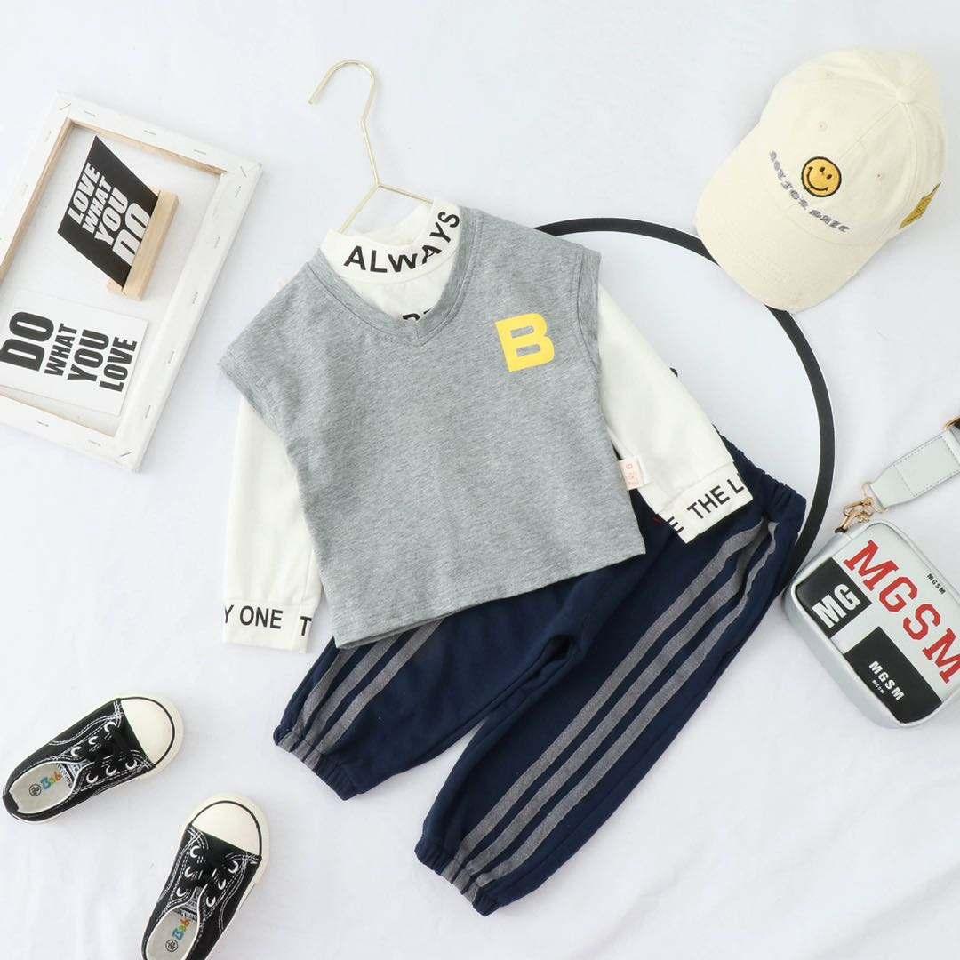 Atacado Boutique de roupas infantis define meninos conjuntos de roupas casuais crianças roupas