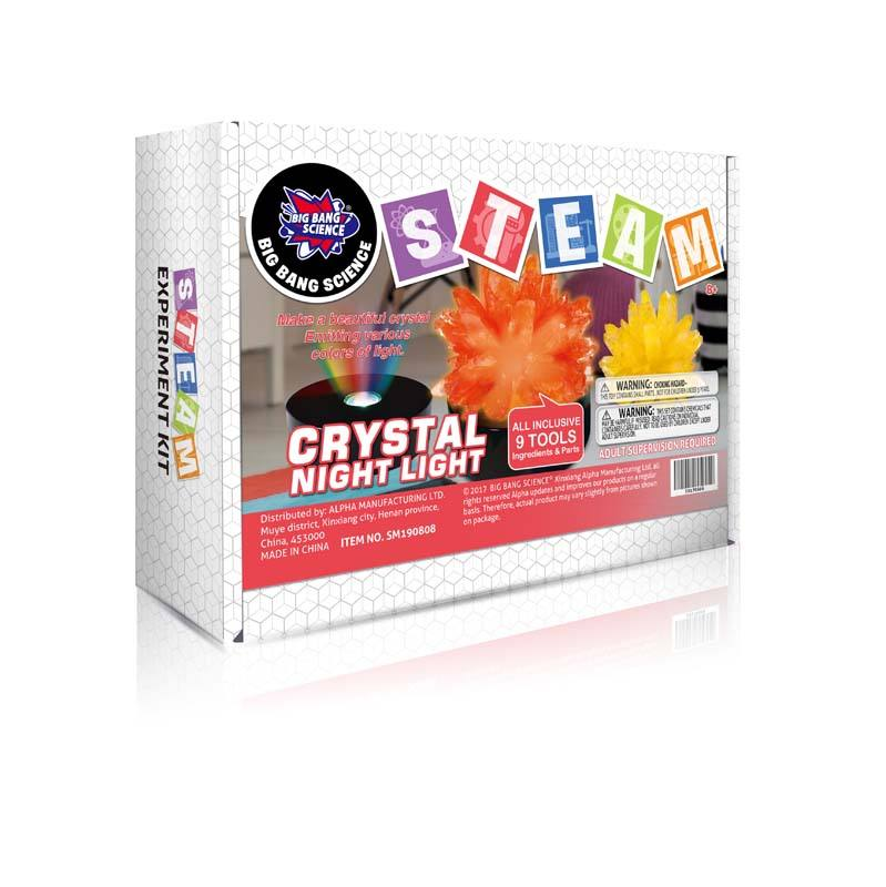 BIG BANG SCIENCE STEM Light-up Crystal Growing Kit Glowing Science Experiment Toys for Kids