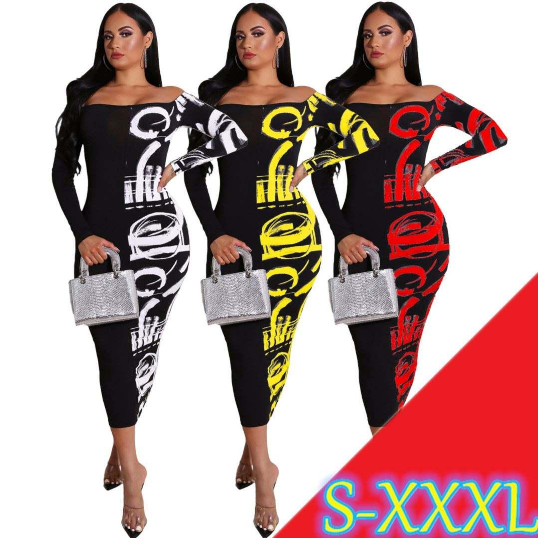 AL073 Mới Nhất Phụ Nữ Thời Trang Tắt Shoulder Contrast Màu Sexy Dresses Phụ Nữ Thanh Lịch Dài Ăn Mặc Oversize Stretch Dress