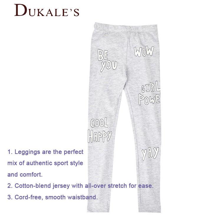 2 пары в упаковке, серые штаны из 100% хлопка классические леггинсы с буквенным принтом для маленьких девочек