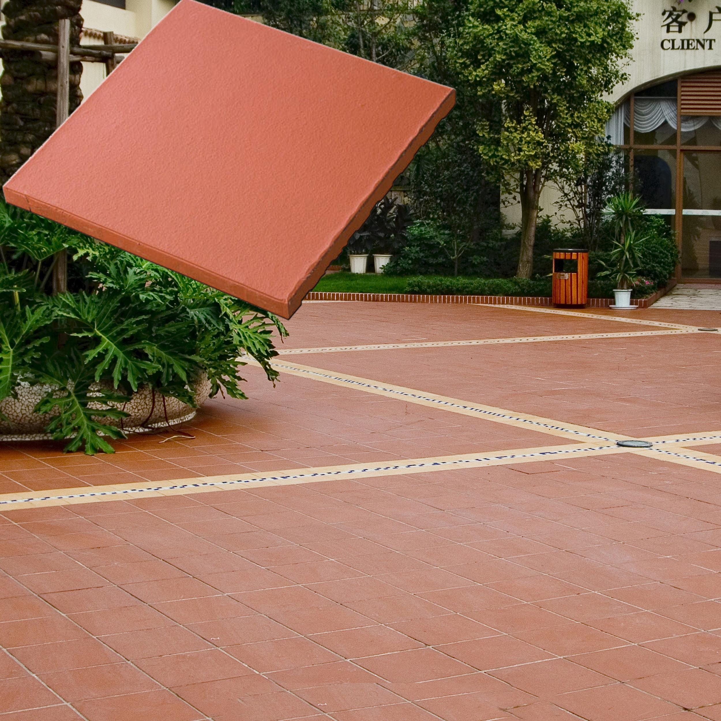 кирпичной напольной керамической двор плитки, фон для <span class=keywords><strong>фотограф</strong></span>ирования с изображением красной кирпичной плитки