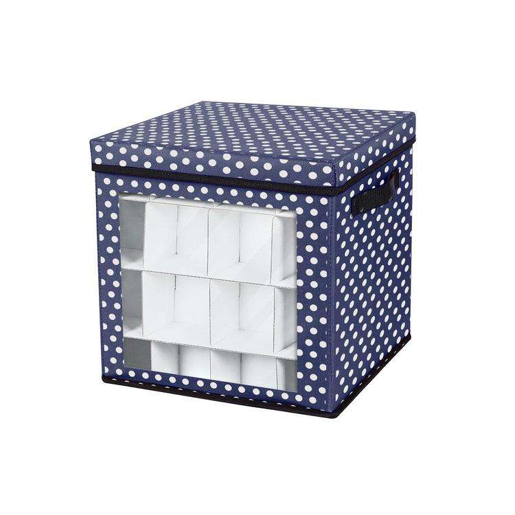 Christmas Ornaments Storage Box with Lid Waterproof 64-Grids Decoration storage box Egg decoration finishing storage bag
