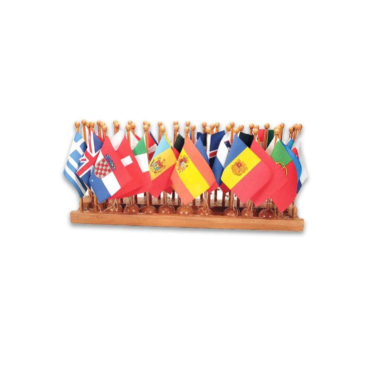 Оптовая продажа Монтессори материалы образования детей европейский Настольная флаг