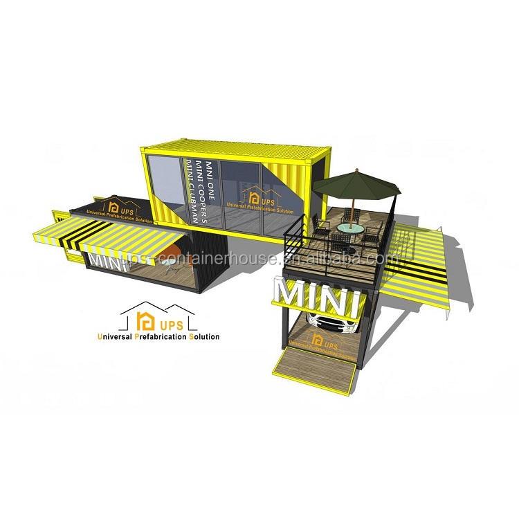 UPS Tốt Nhất Sản Phẩm Bán Chạy Prefab 20ft Container Nhà Hộp Xách Tay Nhỏ Di Động Cửa Hàng Xây Dựng Modular Dự Án