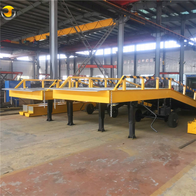 Ce Approved China Supplier 6 ton 10 ton 12 ton 15 ton Mobile Hydraulic Load Dock Forklift Yard Container Ramp for Sale